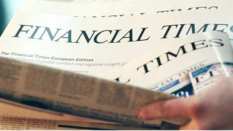 Fotografía del periódico The Financial Times