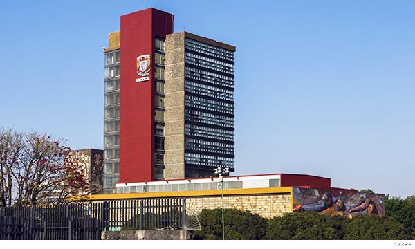 Edificio en las instalaciones de la UNAM